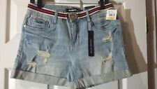 DOLLHOUSE Women's Junior's Denim Belted 98% Cotton Shorts. Size 7. $39. NWT