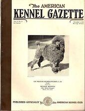 Vintage American Kennel Gazette November 1936 Poodle Cover