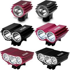 AGM X1,2,3 Cree LED Fahrradlicht Scheinwerfer Beleuchtung Reflektoren Stirnlampe