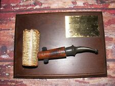 """RARE"" VINTAGE ""FREEHAND"" MISSOURI MEERSCHAUM CORN COB PIPE W/ PLAQUE BENT"
