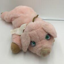 "Walmart Pig Puppet Moving Eyes Plush Pig Stuffed Toy 17"" Pretend Play"