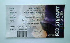 ROD STEWART TICKETS - Mint Ticket Stub(s) Plymouth Argyle 07/06/16 Memorabilia