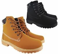 MENS NEW GRIP SOLE HIKING WALKING SNOW WINTER ANKLE HIKER TRAINER BOOTS SZ 6-11