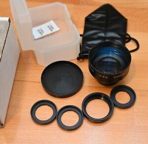 Century Precision 2x Telephoto Converter Lens & Adapter Rings  - BARGAIN
