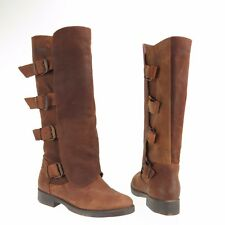 Women's Coolway MC-26 Shoes Brown Round Toe Leather Boots Size 5 M NEW!