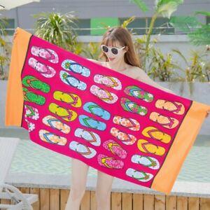 2Pcs Large Microfiber Beach Bath Towel Lightweight Sports Travel Summer Towel UK