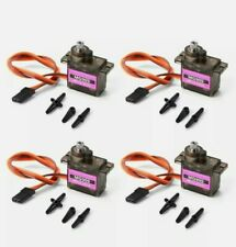 4x Micro Servo Metal Gear For align trex 450 Helicopter Car Airplane and more.