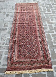 2'9 x 9'6 Handmade afghan tribal high quality mushvani nakhunak wool runner rug