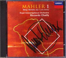 Riccardo CHAILLY Signiert MAHLER Symphony No.1 Titan ALBAN BERG Sonata Op.1 CD