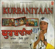 KURBANIYAAN - MISS POOJA - NEW RELIGIOUS SONGS CD - FREE UK POST