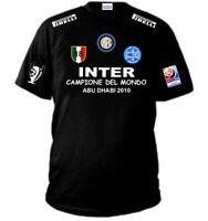 T-SHIRT INTER CAMPIONE DEL MONDO MAGLIA FELPA CALCIO milano triplete maglietta