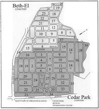 Eight (8) Cemetery Plots Cedar Park / Beth El Paramus NJ (Jewish)