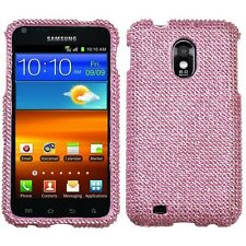 For US Cellular Samsung Galaxy S II 2 Diamond BLING Hard Case Phone Cover Pink