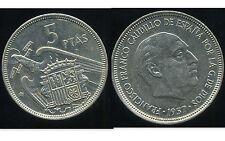 ESPAGNE 5 pesetas 1957 ( 72 )  SPL   NEUVE  ( bis )