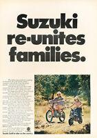 1972 Suzuki Motorcycle - father-son -  Classic Vintage Advertisement Ad H84