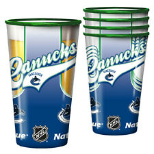 NEW VANCOUVER CANUCKS 4 PACK 20oz PLASTIC STACKING CUPS