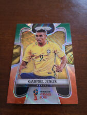 2018 Panini Prizm World Cup Gabriel Jesus #32 Green and Orange Wave Brazil