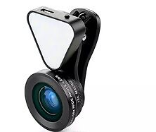 3 in 1 Clip on Camera Lens: flash light, wide angle lens and macro lens UK