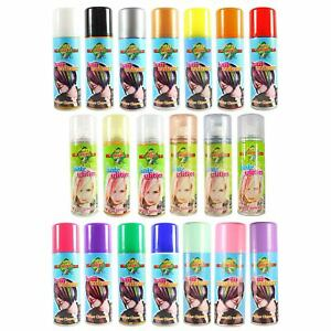 Colour and Glitter Hair Spray Kids Safe Temporary Wash Out Coloured Hairspray