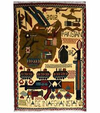 "Handmade Afghan War Rug  2' 6"" x 1' 9'' (ft) - Free Delivery - On 20% Sale"