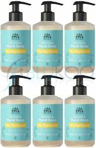 Urtekram Organic No Perfume Liquid Hand Soap - 300ml (Pack of 6)