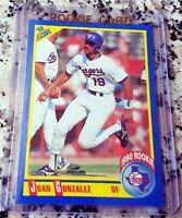 JUAN GONZALEZ 1990 Score Rookie Card RC .295 BA 434 HRs Texas Rangers $$