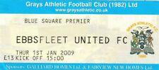 Ticket - Grays Athletic v Ebbsfleet United 01.01.09