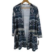 NWT LuLaRoe Womens Tribal Caroline Cardigan XS Aztec Blue Unicorn Sweater New