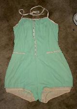 Vintage Catalina Swim Swimming Bathing Suit One Piece Sea Mist Lite Green
