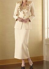 Mother of Bride Groom Dress Skirt suit Women's Wedding party evening size16 L XL