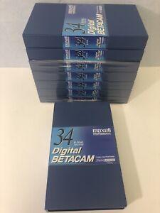 Lot Of 8 Maxell Professional Digital Betacam Cassette-B-D34L