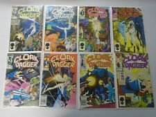 Cloak and Dagger lot 8 different #1-11 missing #7,9,10 8.0 VF (1985 2nd Series)