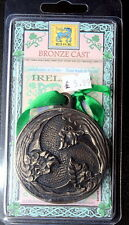 Celtic bronze Trinity medallion handmade in Ireland historical gaelic gift idea