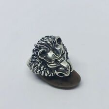 Lion Ring In Sterling Silver 925 Handmade