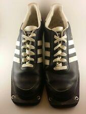 Vintage Adidas Stubai Ski Shoes Adult size 9 Navy Blue & White Cross Country