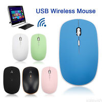 Ultra-Slim Mini USB Wireless Optical Wheel Mouse Mice for PC Laptop HP Dell T1