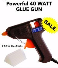 Hot Melt 40 Watt Glue Gun Electric Trigger Adhesive Hobby Crafts DIY 2  Sticks