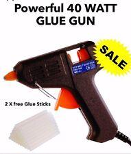 Hot-Melt colla pistola 40 WATT innesco ELETTRICO Adesivo HOBBY ARTIGIANATO FAI DA TE 2 Bastoncini