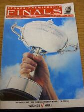 14/05/1989 Rugby League Programme: Premiership Trophy Final, Widnes v Hull [At M