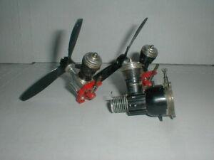 Vtg COX Miniature Fuel Gas Nitro Engine Lot PARTS REPAIR Car Plane Boat Motor
