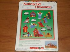 DIMENSIONS NATIVITY SET ORNAMENTS  PATTERN WITH PARTIAL KIT    #9064