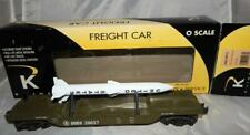 K-Line K662-8012 US Army Flat Car w/ Missile Military DODX 39827 O Scale United