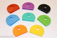 8X COLOUR KEY CAP CAPS TOP COVERS TAGS ID MARKERS MARKER KEYRING MIXED COLOURS