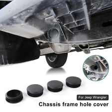 4x Black Chassis Frame Hole Cover Plug Fit Jeep Wrangler JL JLU 18+ Accessories