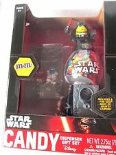 STAR WARS CANDY DISPENSER DISNEY DARTH VADER M & M GIFT SET YELLOW BRAND NEW