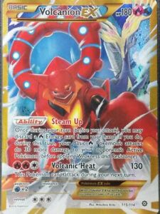Volcanion EX Full Art Secret Rare NM Steam Siege 115/114 Pokemon TCG
