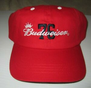 Budweiser 76 Embroidered Adjustable Red Hat