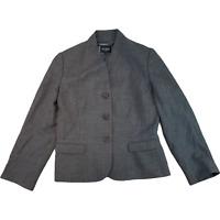 HOBBS Womens Jacket UK 12 Medium Grey Wool Blazer Formal