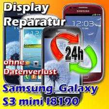 24 St Samsung Galaxy S3 Mini i8190 Frontglas Display Glasbruch Reparatur Schwarz