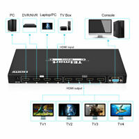 TESmart 4x4 HDMI Splitter Switch Matrix Support 4K@30Hz EDID RS232 IR Control